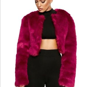 Magenta - IT'S FAUX REAL JACKET